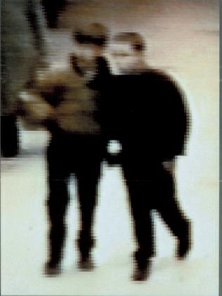 This blurry image was released showing Robert Thompson and Jon Venables in The Strand.