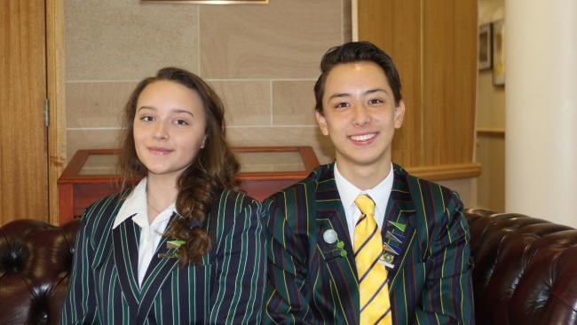 Somerset College students Piper Nairn and Sebastian Angliss-Li.