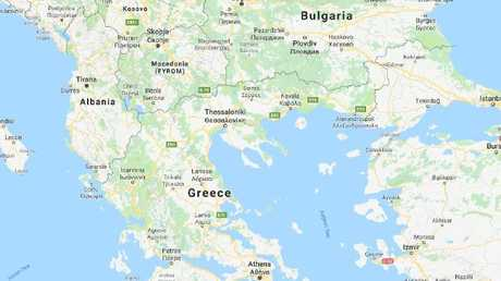Google Maps refers to the country as 'Macedonia (FYROM)'.