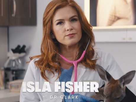 Isla Fisher appears as a kangaroo vet in the trailer. Picture: Dundee Movie