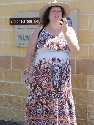 Tziporah stands outside Victor Harbor, SA Court. Picture: Dylan Coker