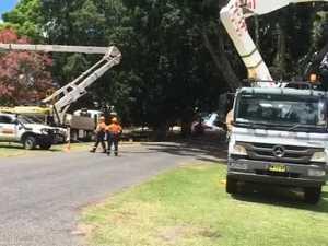 Fallen power lines
