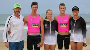 The Golding family had a busy time at South West Rocks chasing Country Championship points for the Sawtell SLSC.