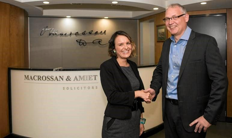 Macrossan & Amiet managing director Stuart Naylor welcomes family law specialist senior associate Samantha Sticklan.