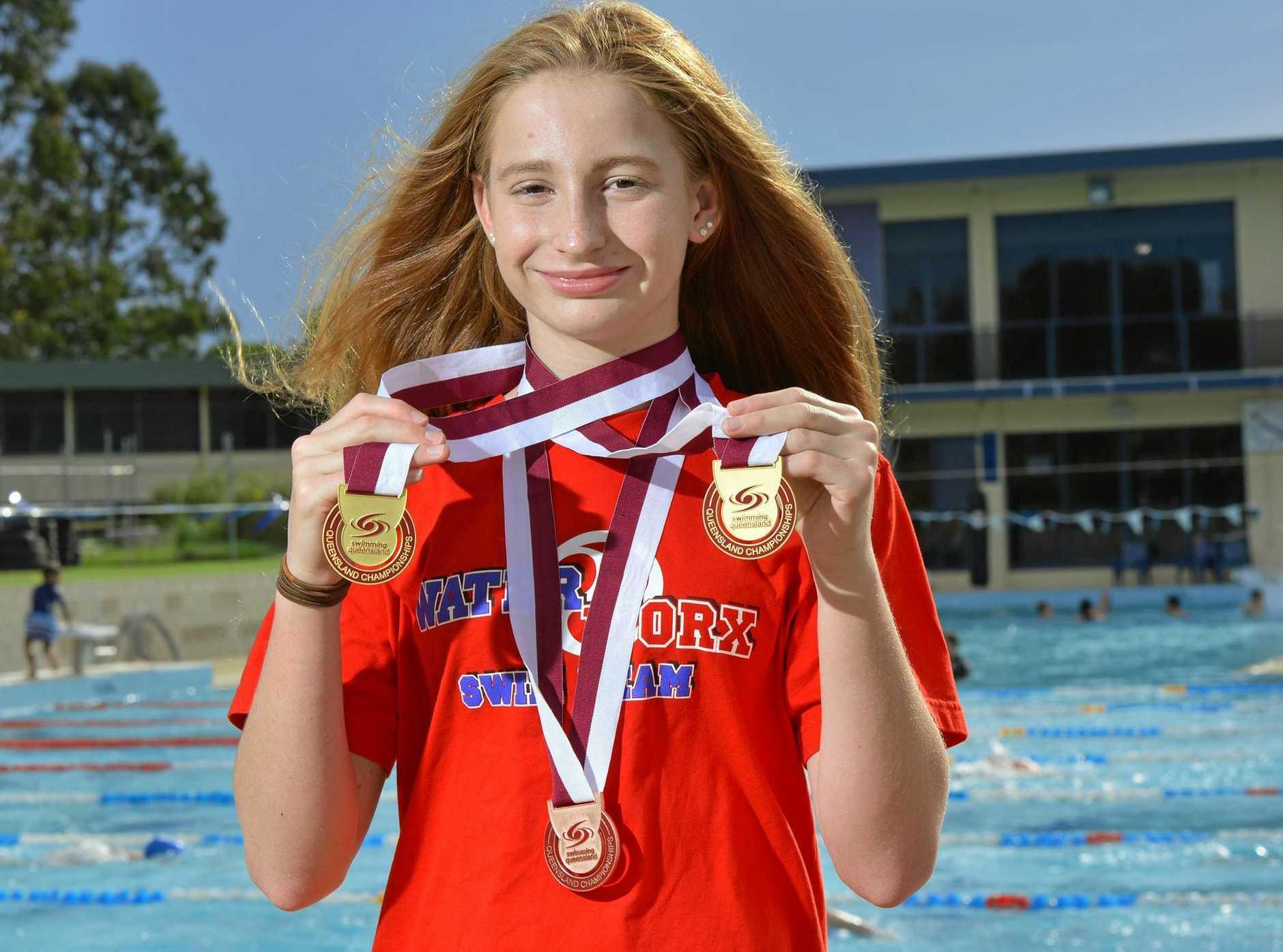Waterworx Swim Club record-breaker Mollie O'Callaghan