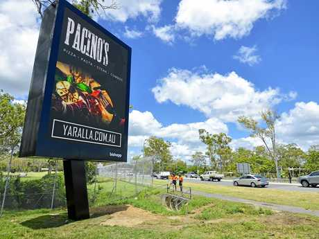 The new digital billboards have been erected outside Gladstone Golf Club.