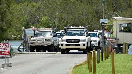 Noosa North Shore ferry busy as holidaymakers head for the North Shore. Photo Geoff Potter / Noosa News