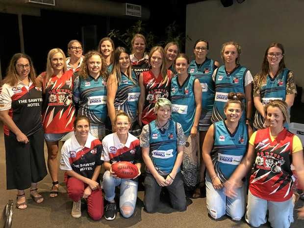NEW GOALS: Players were drafted into local women's AFL teams on the weekend.