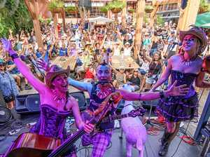 Hillbilly Goats the face of Airlie Beach Festival of Music