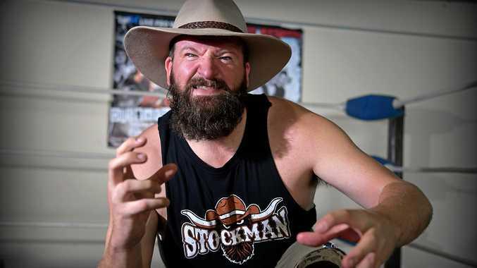 PUMPED: Ben 'The Stockman' Steinhardt will make his professional debut next Saturday evening at Aussie World.