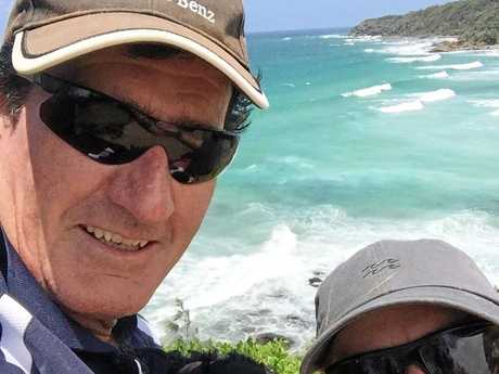 REMEMBERED: Michael Passey was killed in a tragic workplace accident at Palmview on Monday morning. Pictured is Michael and partner Sam Holt.