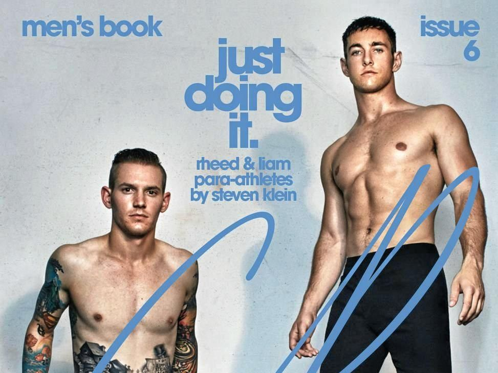 COVER IMAGE: Bundaberg's Rheed McCracken is on the front cover of the Carine Roitfeld's CR Men's Book along with fellow paralympic athlete Liam Malone.