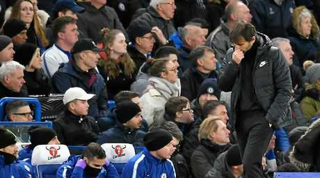 Antonio Conte cuts a dejected figure on the sideline