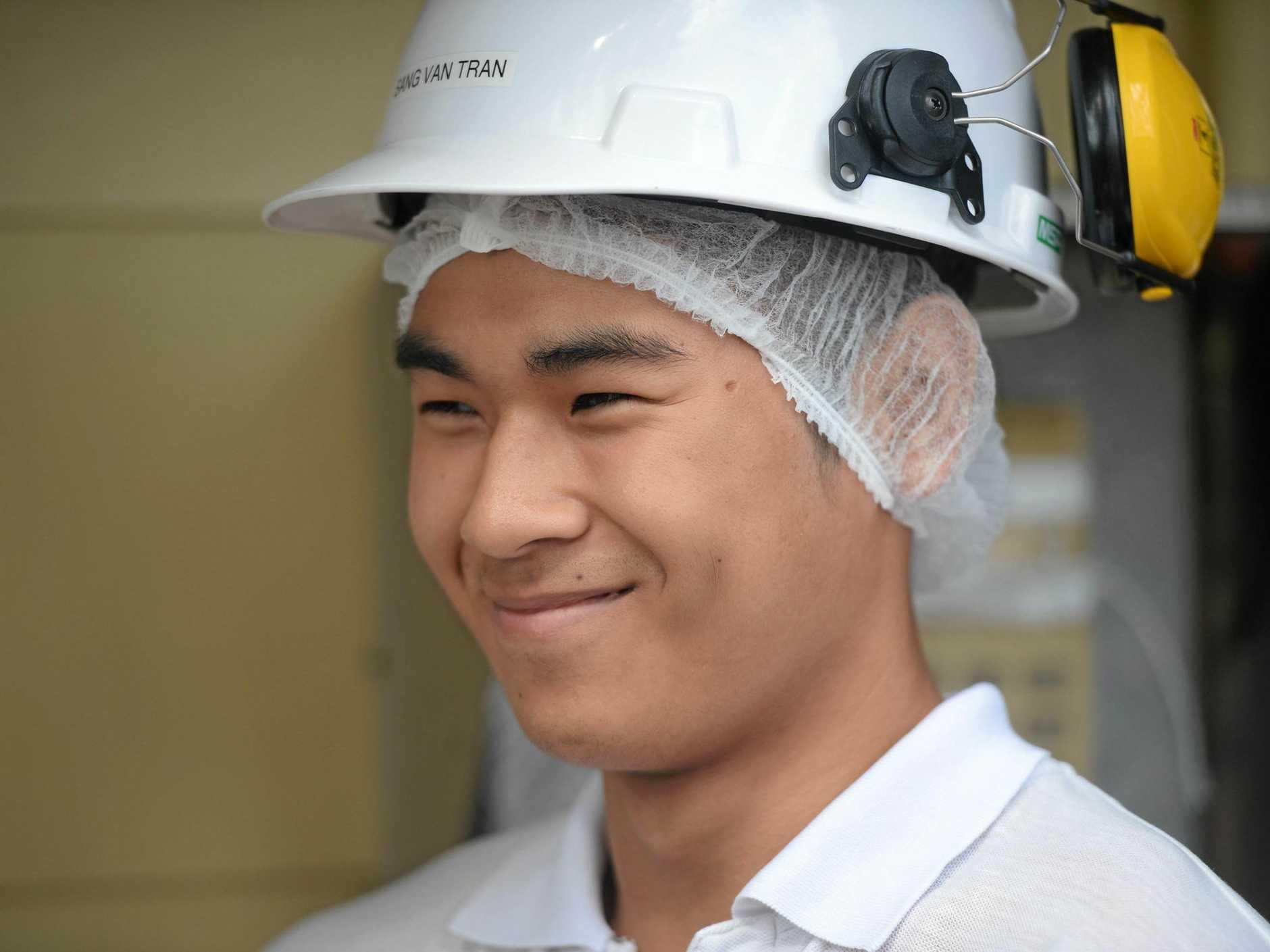 Teys employee Sang Van Tran.