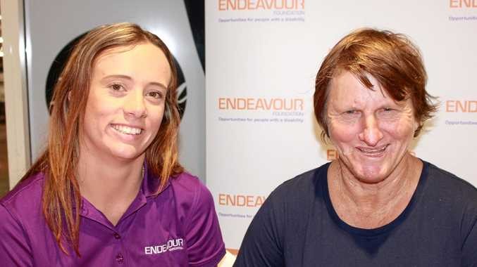 HERE TO HELP: Endeavour Foundation's Vanna Aspinall with client Dian Griggs.