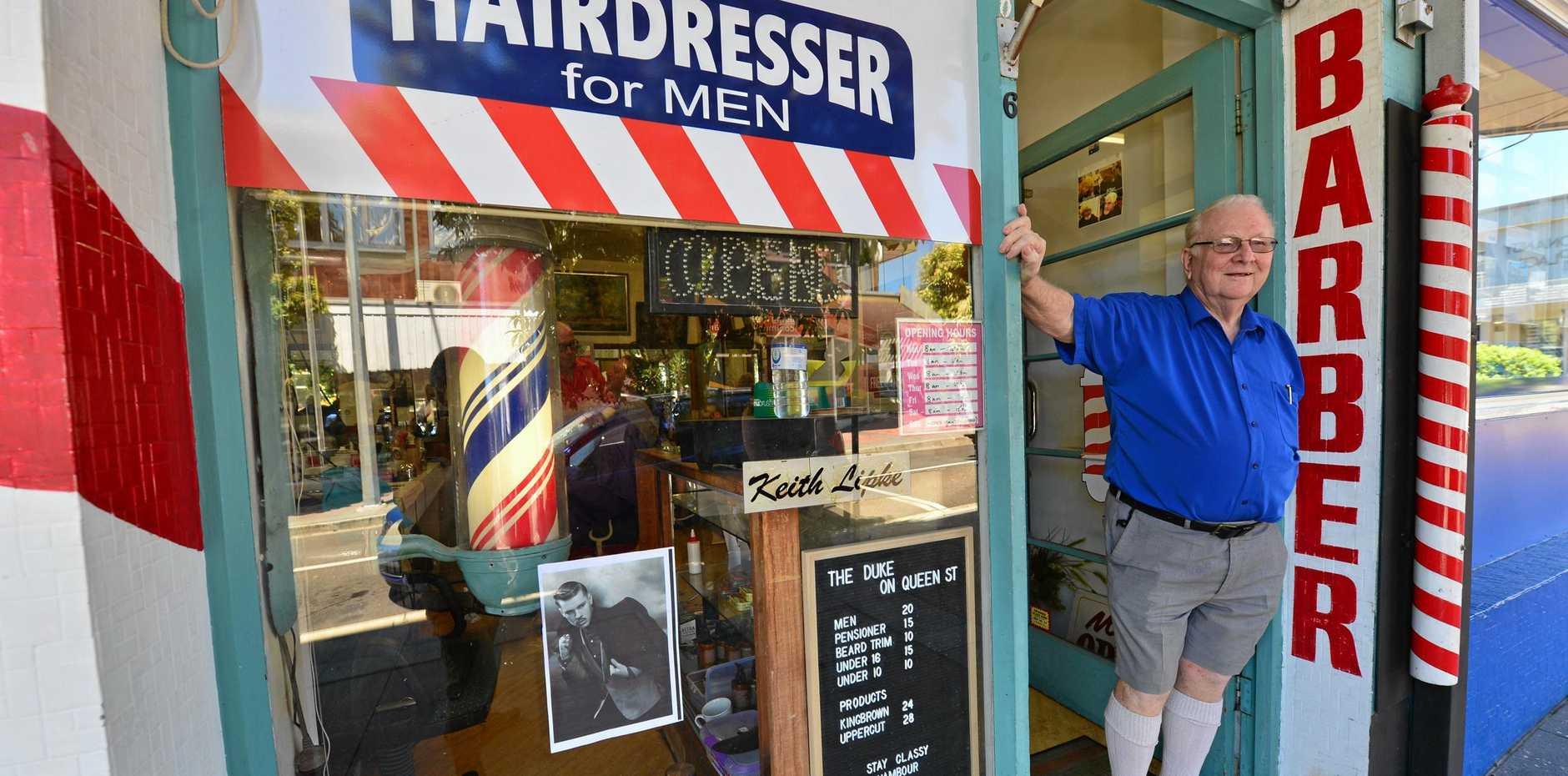 Barber Keith Lipke is retiring after 61 years.