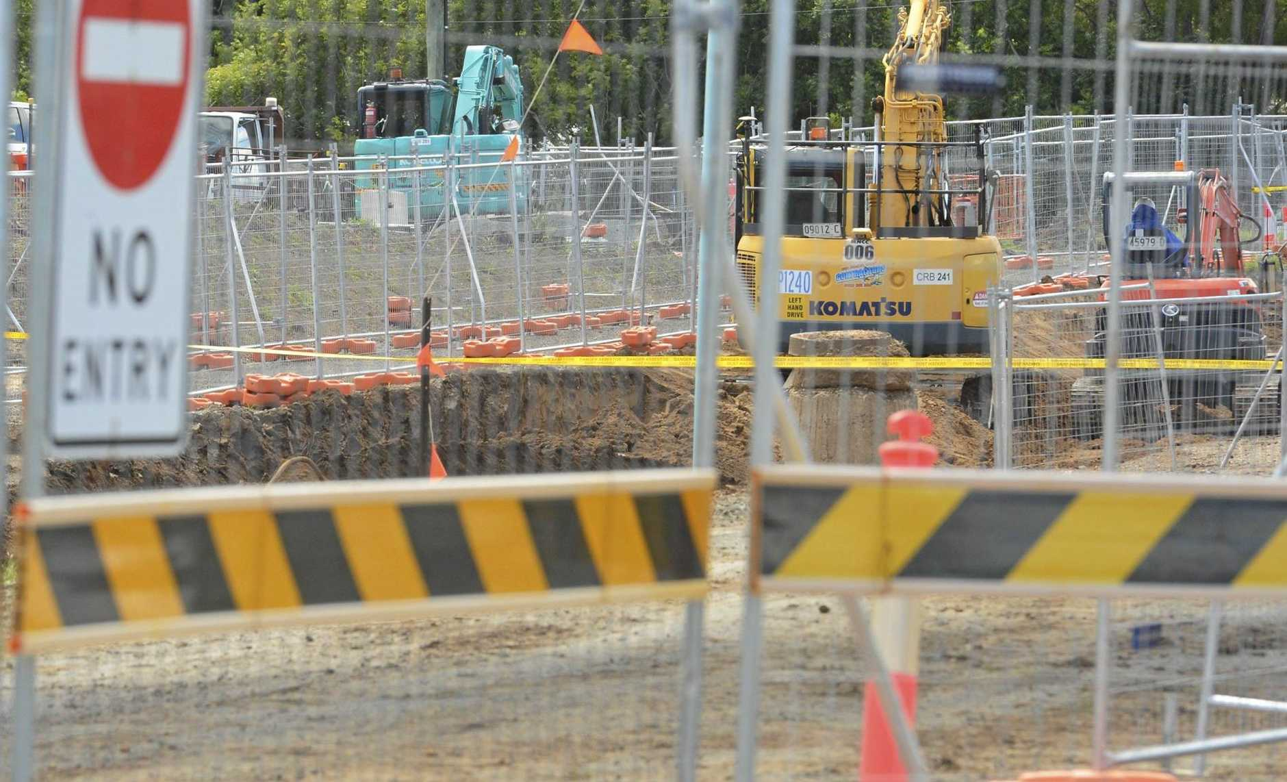 The Daily Examiner has received reports of a possible body being found near the new bridge construction in Grafton.