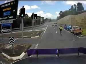 Dash cam footage captures motorway chaos