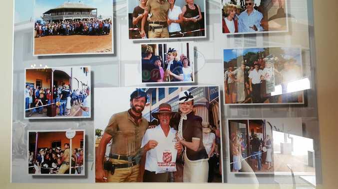 Hugh Jackman and Nicole Kidman on the set of Australia at Bowen's Grandview Hotel.