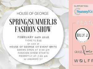 House of George Fashion parade is a collaboration of local boutiques and designers to bring you catwalk looks and inspiration for Spring/Summer 2018.