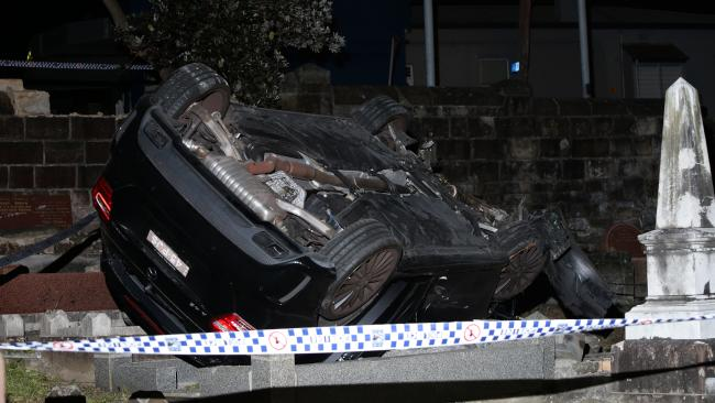 The driver is under police guard in hospital. Picture: Bill Hearne