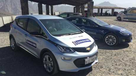 Charge time: Chevrolet Bolt and Tesla on the nine-day road trip.