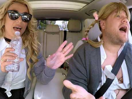 James Corden's Carpool Karaoke segment on The Late Late Show with James Corden is popular with viewers. Picture: ©2016 CBS Broadcasting, Inc. All Rights Reserved