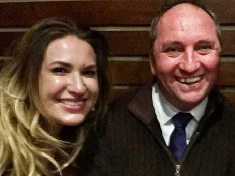 Vikki Campion and Barnaby Joyce. Source: Facebook