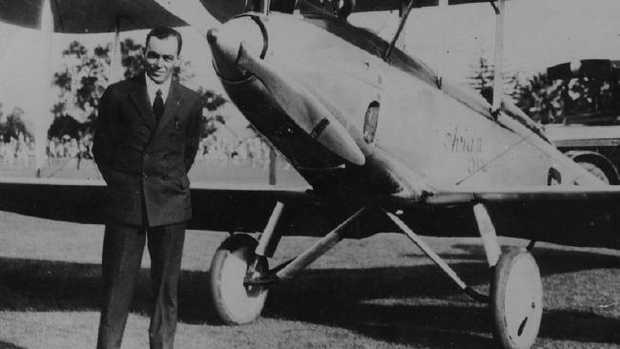 Australian pioneer aviator Bert Hinkler, with his Avro Avian, was the first person to fly solo from England to Australia in 1928.