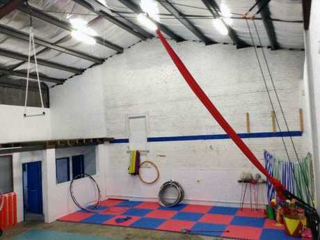 A photo on the circus' Facebook page shows a training room at the facility. Picture: Facebook