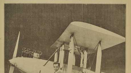 A special poster commemorating Hinkler's epic flight appeared in The Weekly Times on March 17, 1928.
