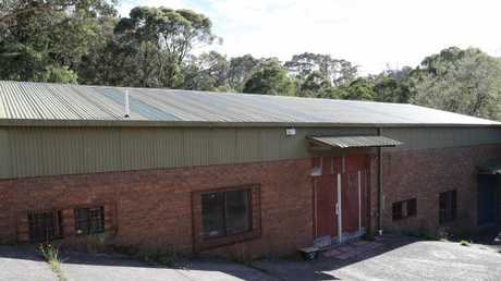 The unremarkable brick and corrugated and iron box where circus training was held.