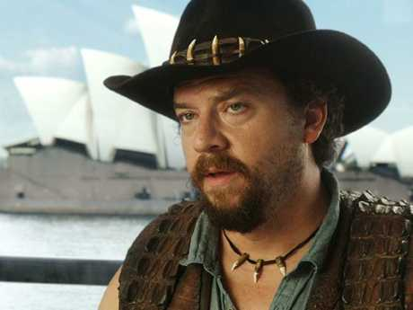 Danny McBride stars as Crocodile Dundee's son in Tourism Australia's new campaign. Picture: AAP