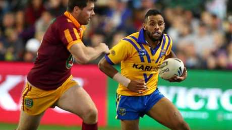 Josh Addo-Carr on the fly in the City v Country clash.