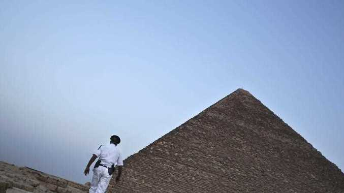 Egypt's Antiquities Ministry announced the discovery of a 4,400-year-old tomb near the pyramids outside Cairo
