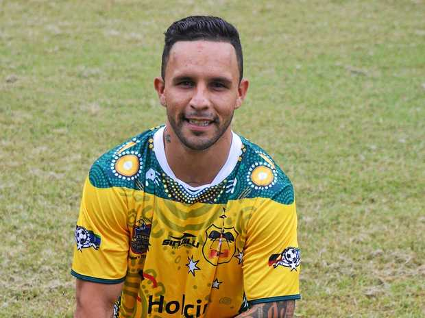 Kaiden Powell from Goonellabah FC who has just returned with the National Indigenous soccer team that toured NZ.