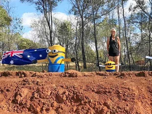 DESPICABLE ACT: Michelle McPherson beside the latest addition to the minion family days before he was snatched away forever.
