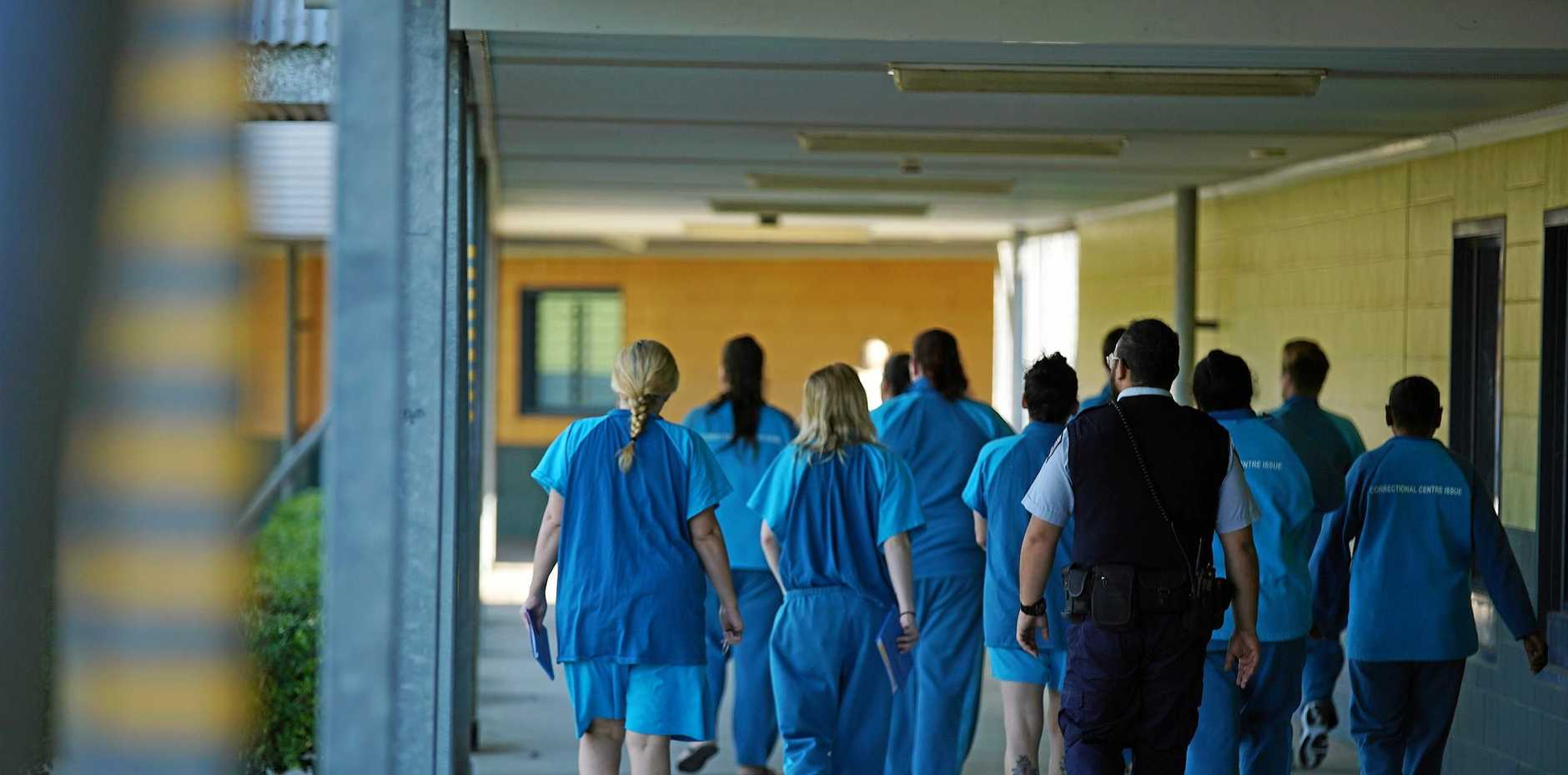 Female prisoners walking in the Brisbane Women's Correctional Centre in Queensland. A Human Rights Watch report found prisoners with disabilities are often neglected and abused.
