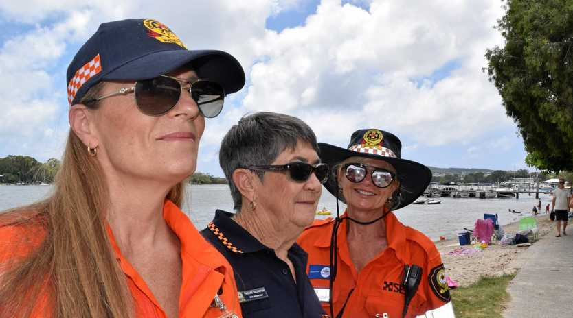 ON THE LOOKOUT: Annmarie Faulkner, Pauline Eglington and Marie Pryce love volunteering with the Noosa SES and hope more people take up the opportunity to join.