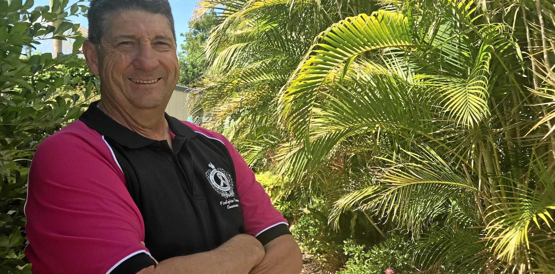 SAVING LIVES: Ipswich firefighter Bruce Beasley continues to raise money for the Leukaemia Foundation after his wife's medical scare.