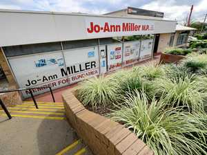 Miller's office operates during pigeon feather clean-up