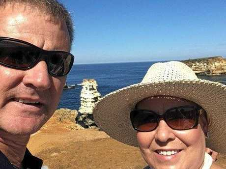 Trudy and Damian Crowley in their travels.