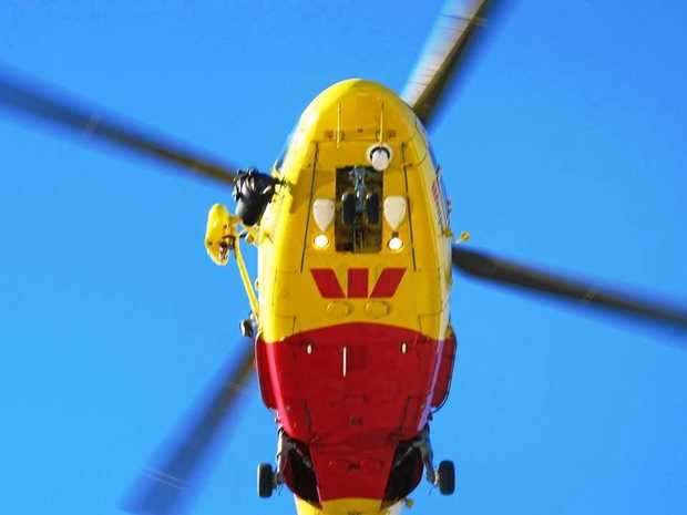 The Westpac Life Saver Rescue Helicopter is involved in a search for a missing yachtsman.