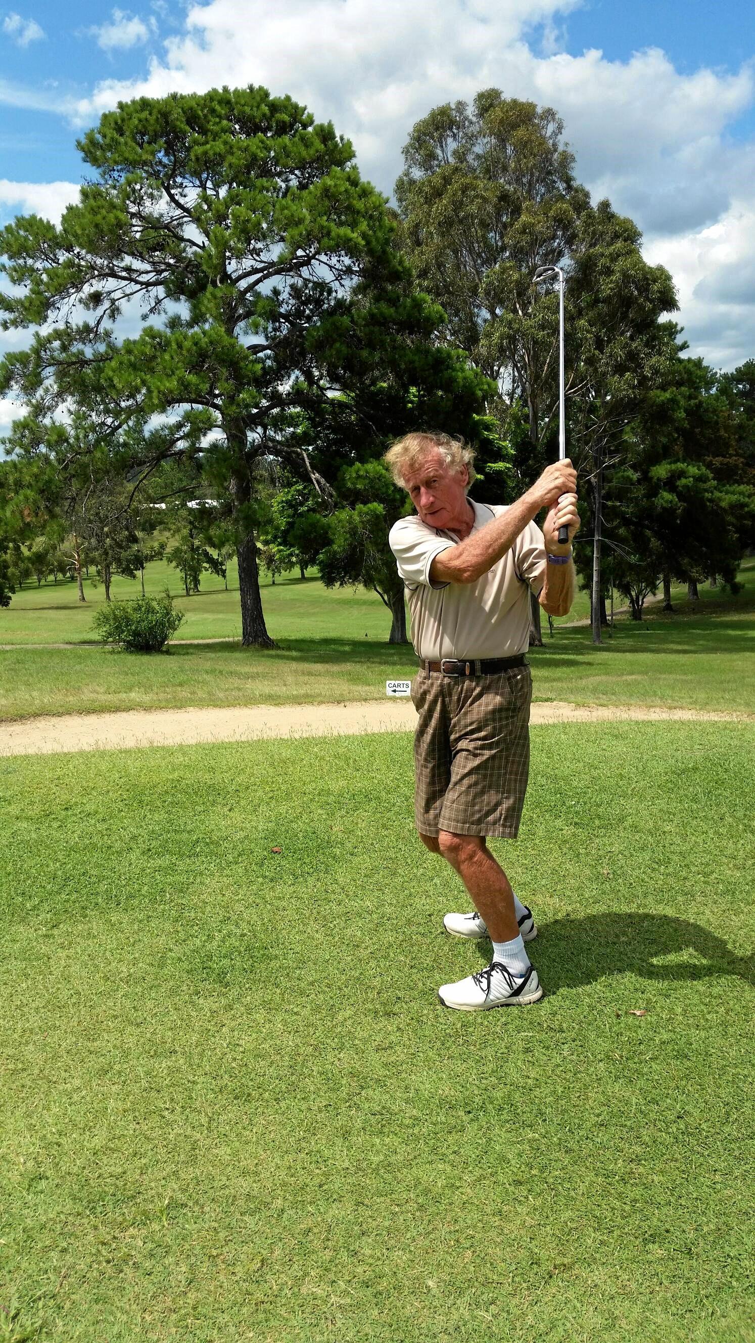 Gympie Veterans Golf B-Grade winner Jeff Mason