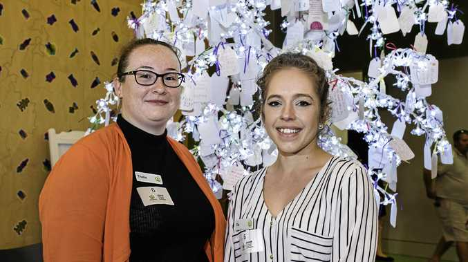 Woolworths Gympie Team members Thalia Stringer and Tia Schiffke were congratulated on their outstanding fundraising efforts for the Children's Hospital Foundation.