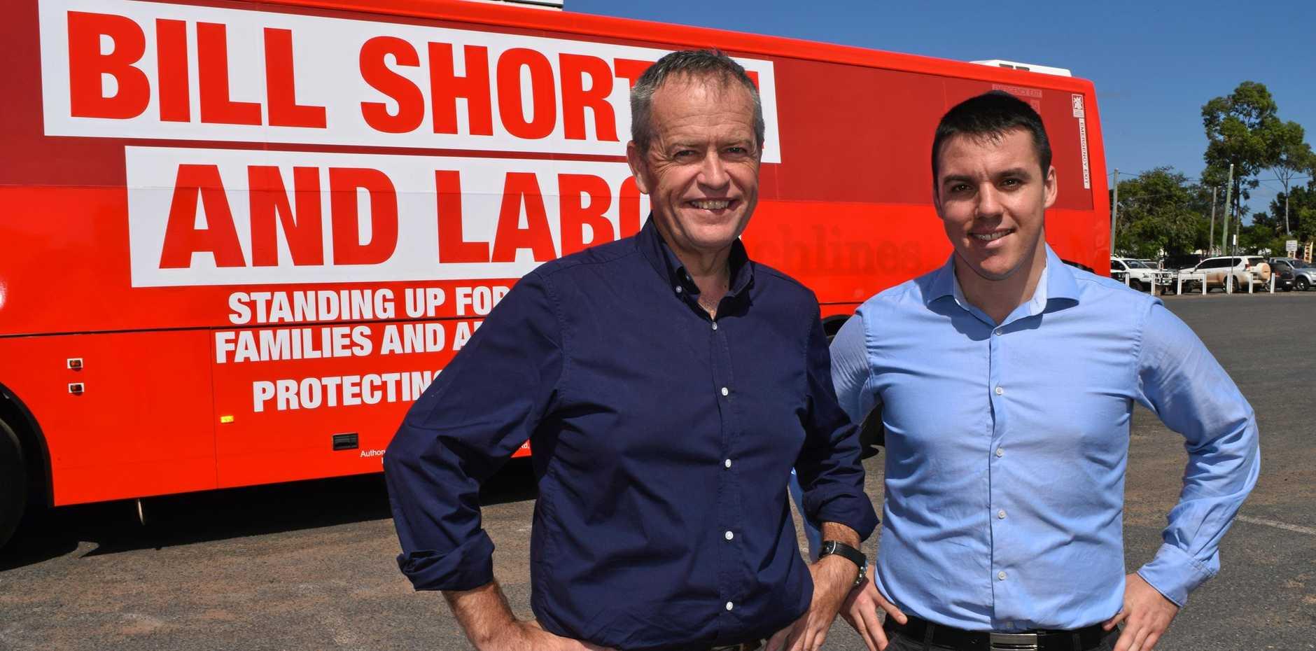 Federal Opposition Leader Bill Shorten on a recent tour of Central Queensland.
