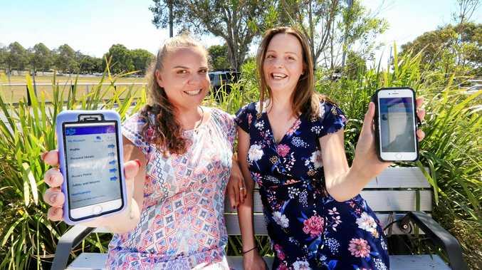 CONNECTING LOCALS: The creators of the new Jigsaw Neighbourhood app, Renea Bevan and Casey Davis.
