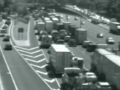 Traffic builds at Yarra Blvd on the Monash Fwy. Picture: VicRoads.