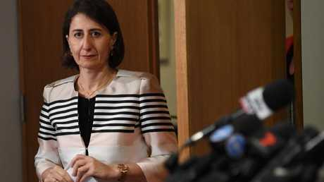 Gladys Berejiklian said five youths are detained under terror-related offences. Picture: AAP Image/David Moir