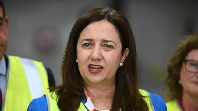 Premier Annastacia Palaszczuk says Adani is not meeting its new jobs targets. Picture: AAP image, John Gass